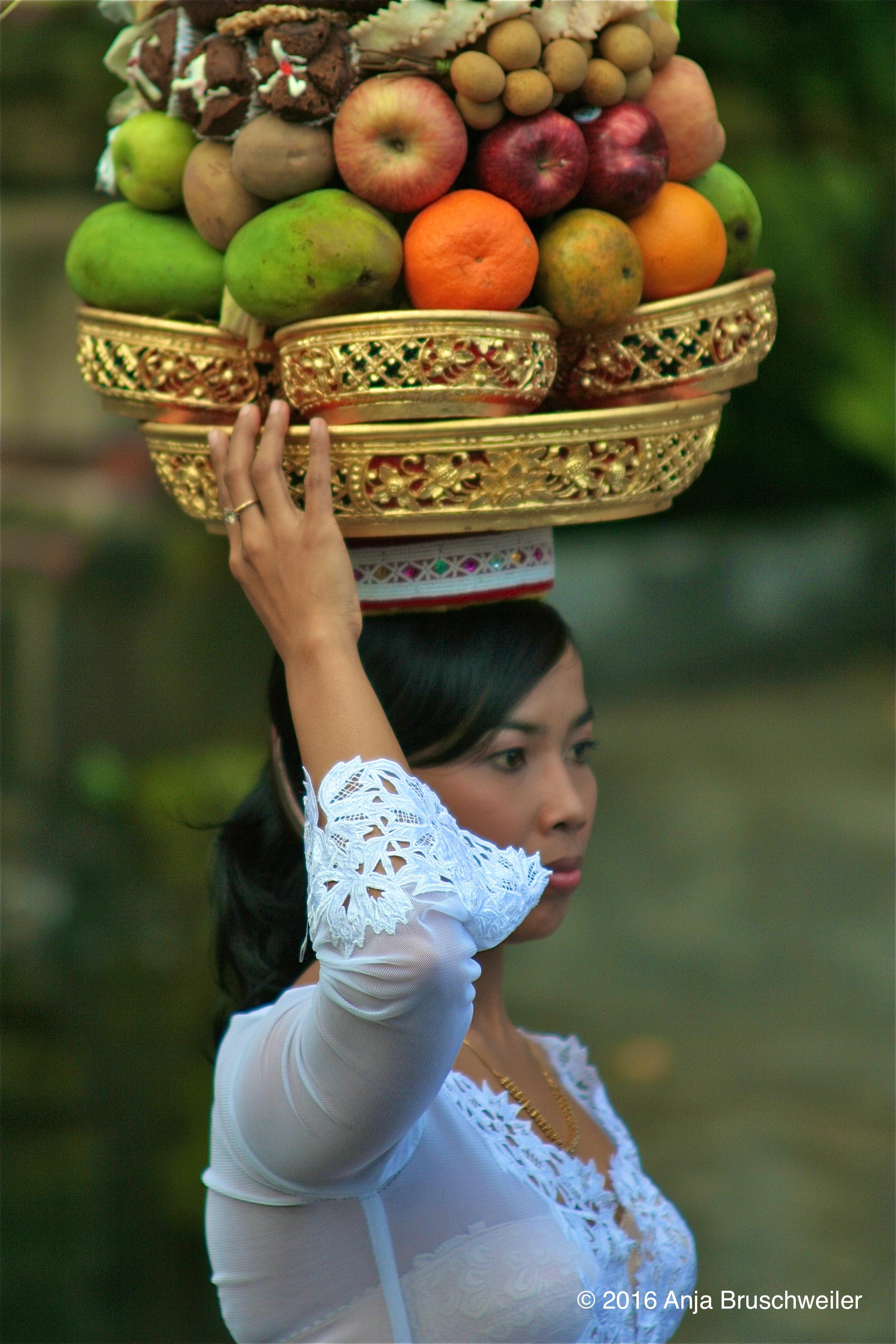 girl fruit basket